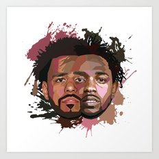 Kendrick Lamar + J Cole Art Print
