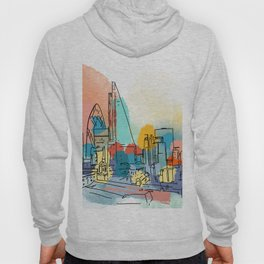 London city at Sundown Hoody
