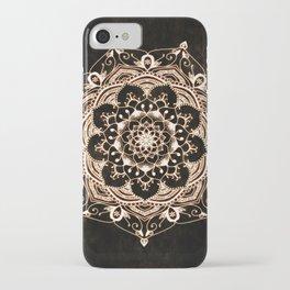 Glowing Spirit Black White Mandala Design iPhone Case