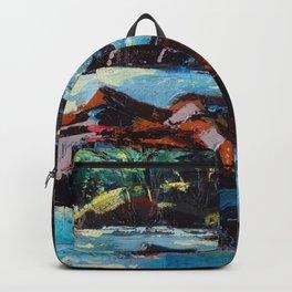 Toby Waters creek painting by Dennis Weber / ShreddyStudio Backpack