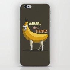 Bananas About Llamas! iPhone & iPod Skin