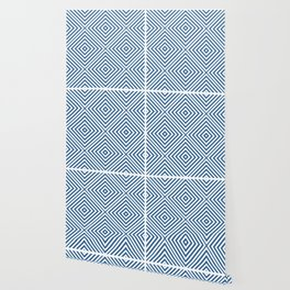 Azure Elegant Diamond Chevron Wallpaper