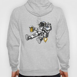 Astronaut Drinking Beer Space Party Hoody