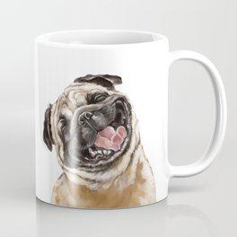 Happy Laughing Pug Coffee Mug