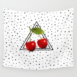 Cherries and Pyramid Wall Tapestry
