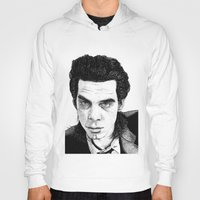 "nick cave Hoodies featuring ""Nick Cave"" by Jocke Hegsund"