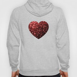 Beautiful Glamour Red Glitter sparkles Hoody