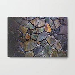 Mosaic Stone Wall Metal Print