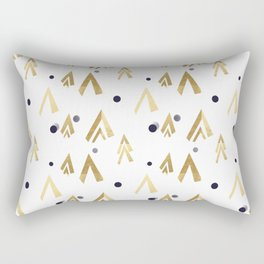 Golden teepees under the blue moon Rectangular Pillow