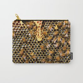 swarm of bees on honeycomb Carry-All Pouch