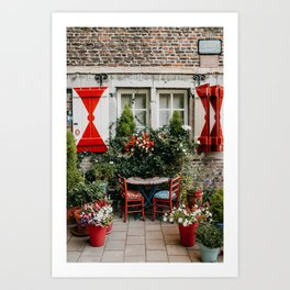Cute romantic house in city Maastricht, The Netherlands, Europe | Travel photography Art Print