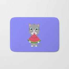 Cat with Melon Bath Mat
