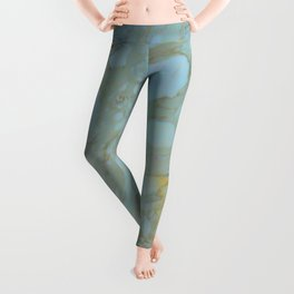 Marble in Blues and Golds, Italian  Leggings
