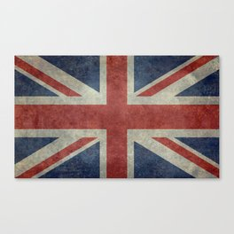 England's Union Jack, Dark Vintage 3:5 scale Canvas Print
