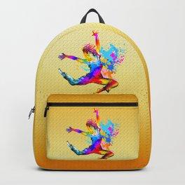 Hip hop dancer jumping Backpack