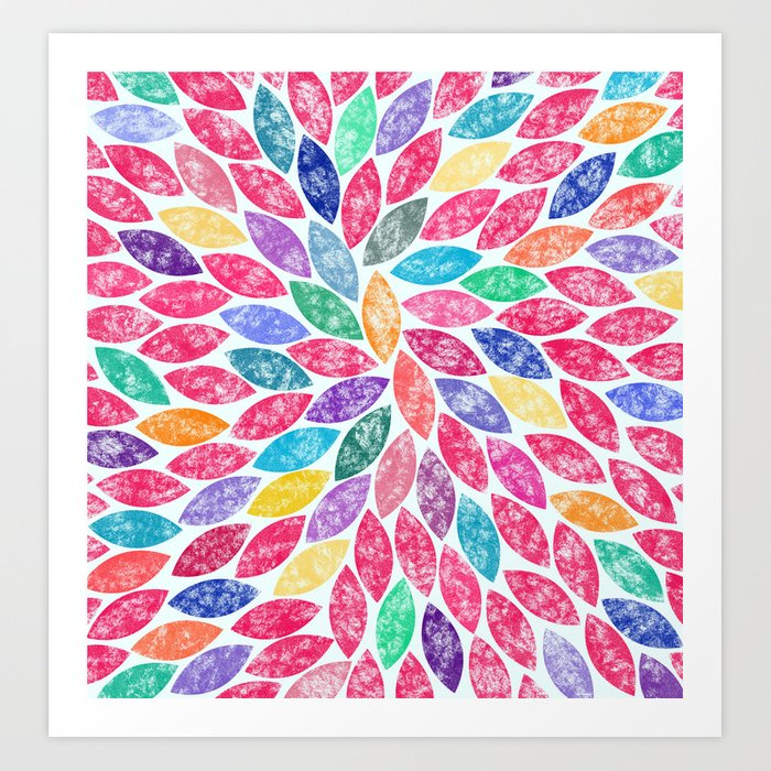 Abstract Colorful leaves II Art Print