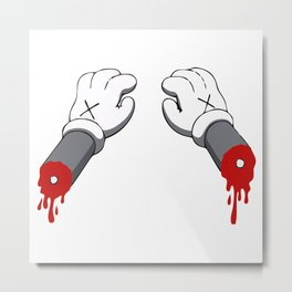 Cut Your Hand Metal Print