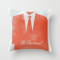 the national Throw Pillows featuring The National  by Silent K Design