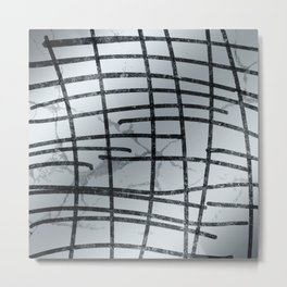 Linear Abtract Metal Print
