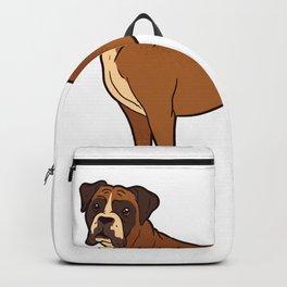 Boxer dog Backpack