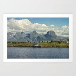 Brasøy Seven Sisters Mountains In Norway Art Print