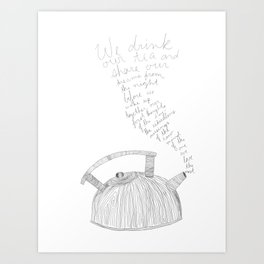 kettle mornings Art Print