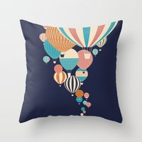 balloons Throw Pillows featuring Balloons by Jay Fleck
