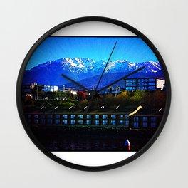 Where the mountains meet the sea. Wall Clock