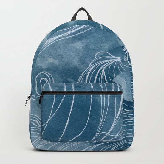 The wave in a bubble Backpack