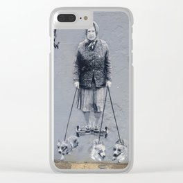 Whitstable Street Art - The Queen Clear iPhone Case