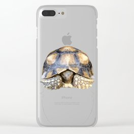 Sulcata Tortoise with Reflection Clear iPhone Case