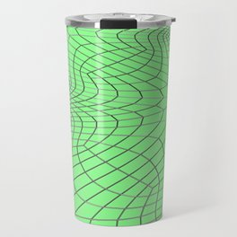Metal wires on green surface Travel Mug