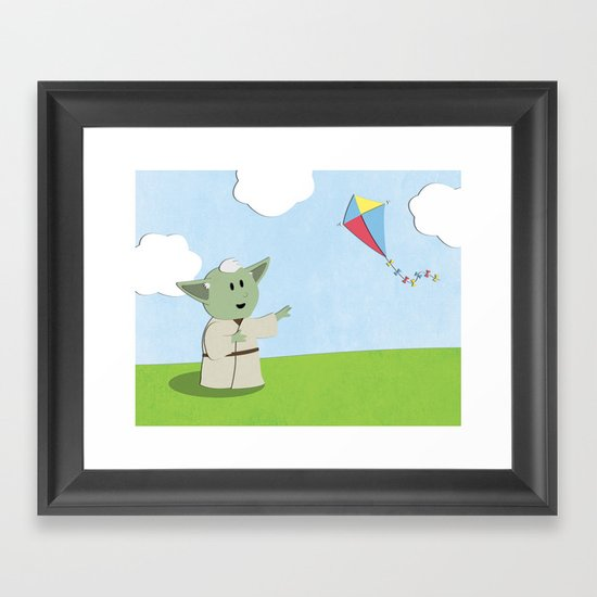 SW Kids - Yoda Kite Framed Art Print