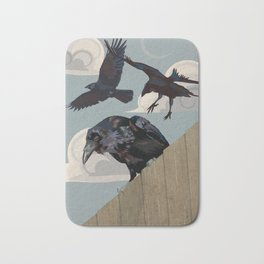 Invasion of the Crows Bath Mat