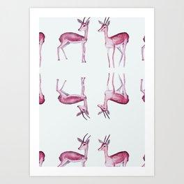 gazal pattern Art Print
