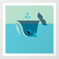 Be Nice to Whales Art Print