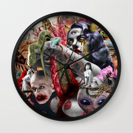 Cosmic Witchcraft Wall Clock