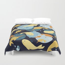 A whale of a time Duvet Cover