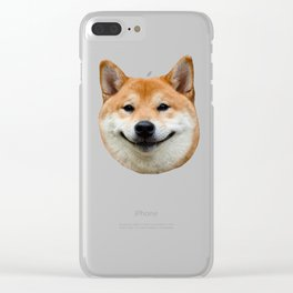 Shiba Smile Clear iPhone Case