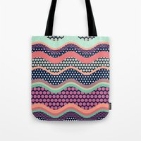yetiland Tote Bags featuring Patternwork XII by Metron