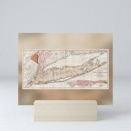 1842 Map of Long Island Mini Art Print
