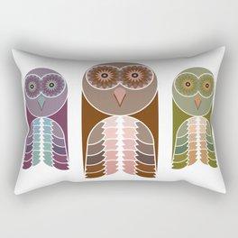 Owl With Kaleidoscope Eyes Rectangular Pillow