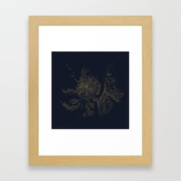 Mount Hood, Oregon Contour Map Framed Art Print
