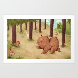 Fat Little Bear Art Print