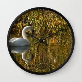Idle Swan Wall Clock