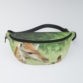 Baby giraffes in natures nursery Fanny Pack