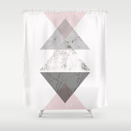Triangle pattern modern geometric abstract Shower Curtain