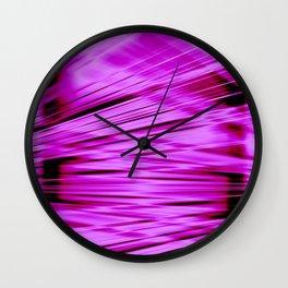 Pink streaked lines pattern Wall Clock