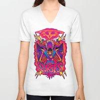 jojo V-neck T-shirts featuring MOJO JOJO: CURSES by BeastWreck