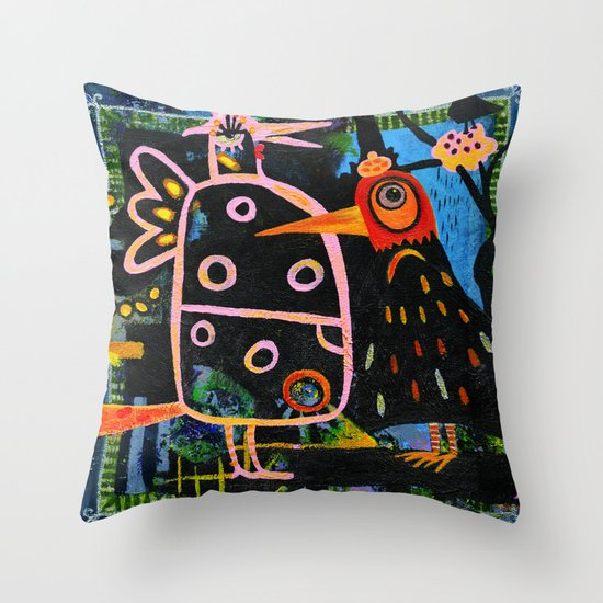 spring bazaar Throw Pillow